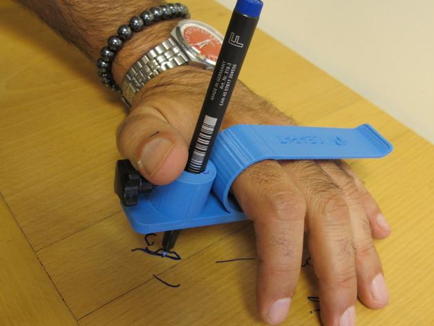 Pinza de mano para escribir