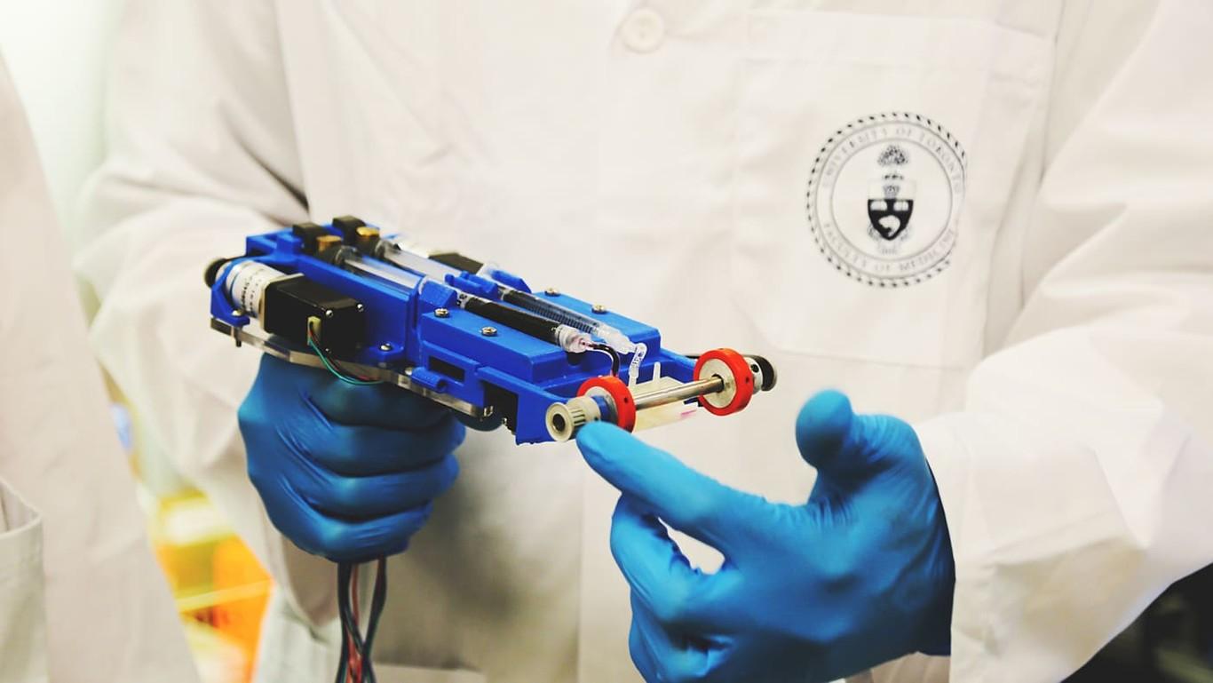 Máquina de impresión de piel