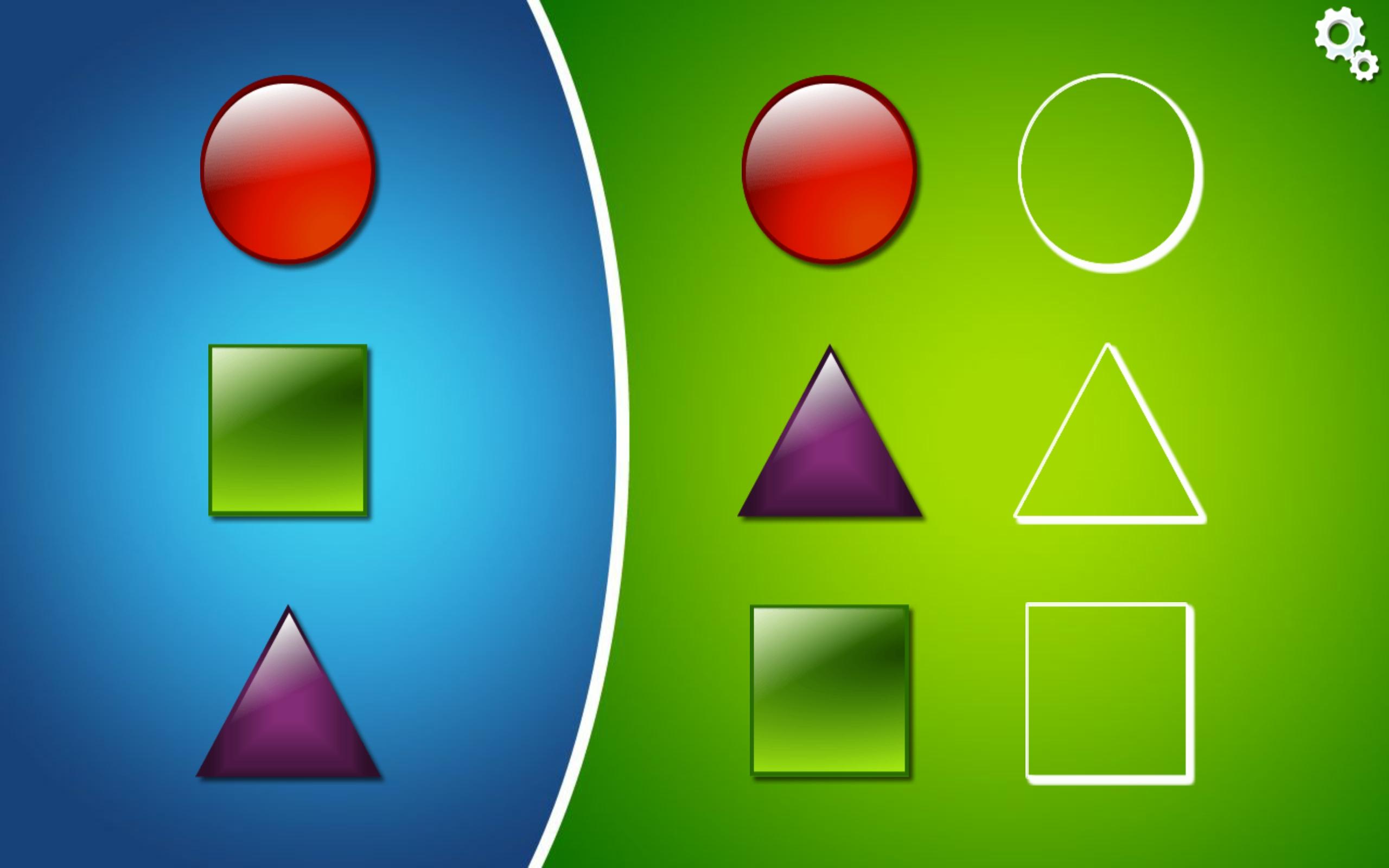 Asociar formas geométricas