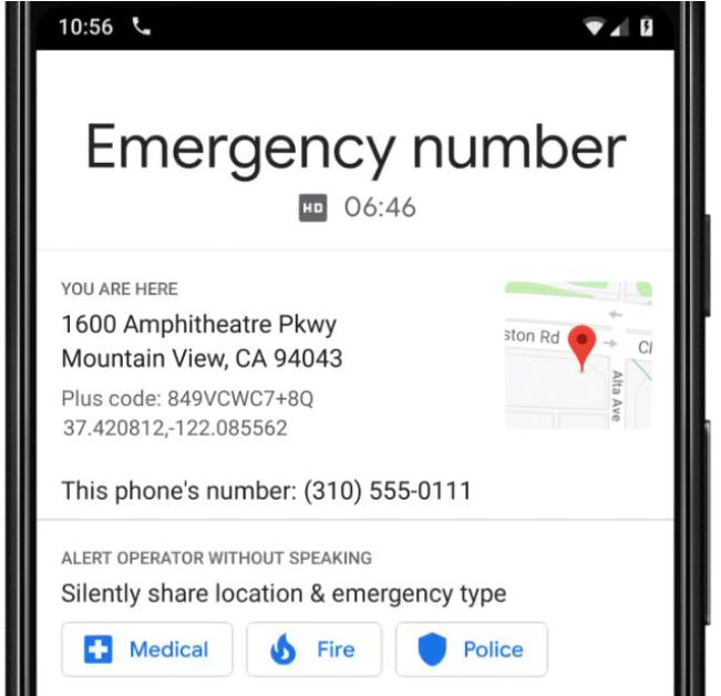 Llamadas de emergencia sin voz de Google