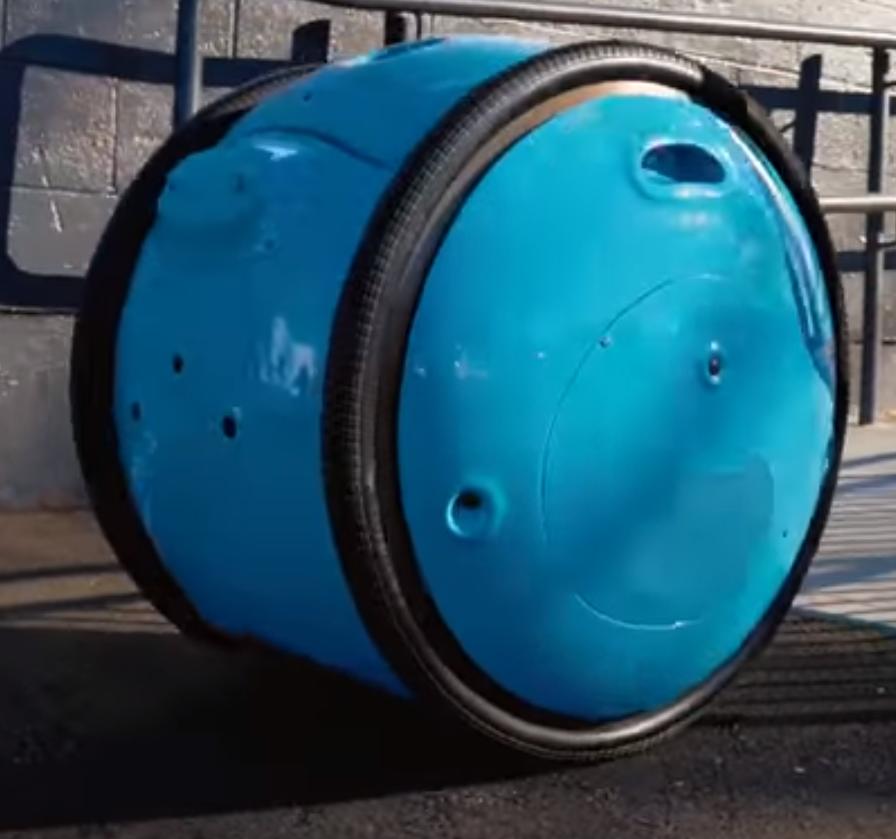Carrito eléctrico de transporte de objetos personales, Gita, fabricado por Piaggio