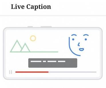 Dibujo de la pantalla de Google Live Caption