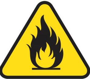 Señal de peligro de incendio