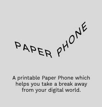 Pantalla de presentación de la app Paper Phone