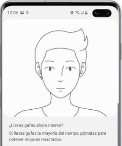 Captura de la configuración del nuevo desbloqueo facial de Samsung