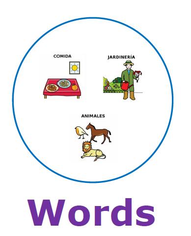 Portada de la actividad Words