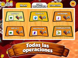 Pantalla de juego distintas operaciones matemáticas