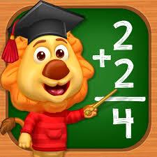 Logo de la aplicación Math Kids.