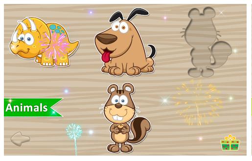 pantalla de juego de animales la aplicación