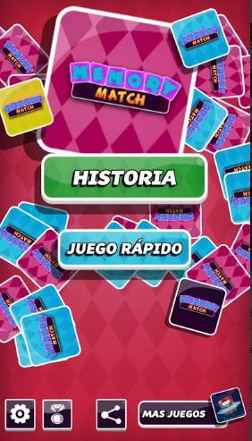 pantalla principal de la aplicación