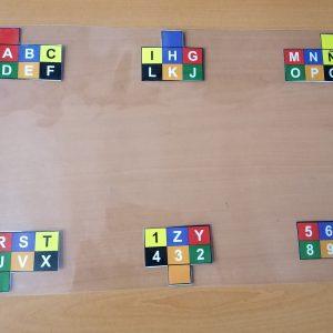 Tablero visual alfabético