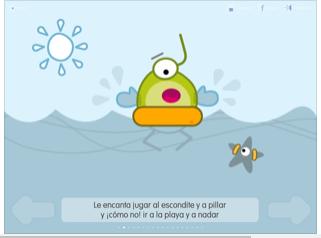 pantalla de la aplicación