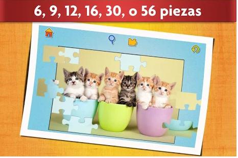 pantalla de juego de la aplicación