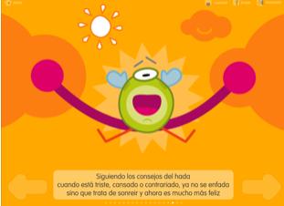 pantalla de la aplicación.