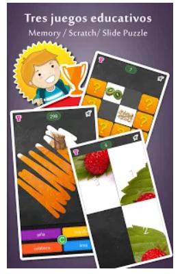 pantalla de los distintos juegos de la aplicación