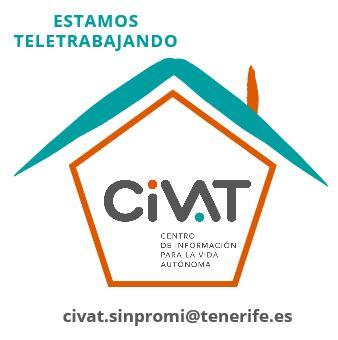 Logotipo del Civat dentro de una casa.