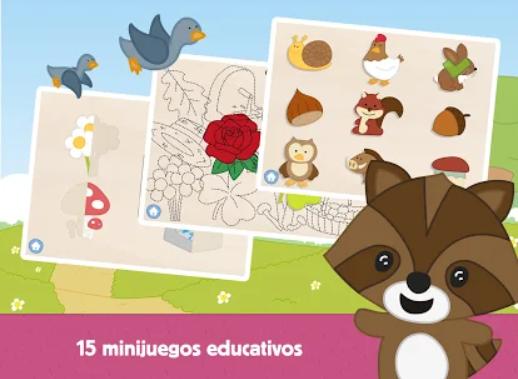 pantalla de los diferentes juegos de la aplicación
