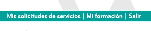 Panel de acceso a solicitudes de servicios