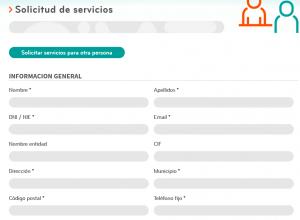 Formulario de servicios
