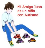 Logo de la aplicación Mia amigo Juan. Niño con Autismo.