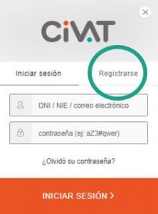 Registro en la web CiVAT