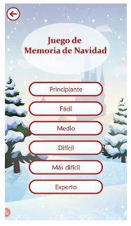 pantalla de selección de juegos