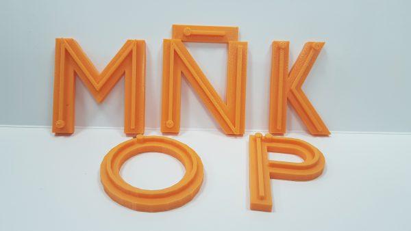 Letras impresas en 3D