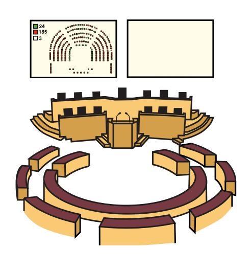 pictograma del Parlamento